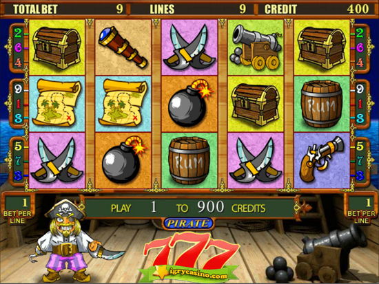 бесплатный игровой автомат пират